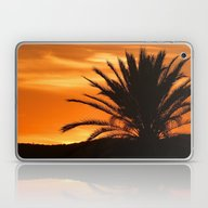 Laptop & iPad Skin featuring Palm Tree In Sunset by Phil Smyth