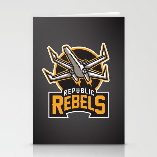 Republic Rebels - Black Stationery Card