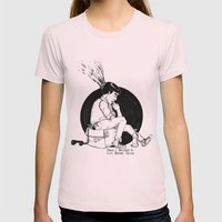THE LIFE BEFORE DEATH Womens Fitted Tee Light Pink SMALL