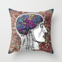 Creative mind Throw Pillow