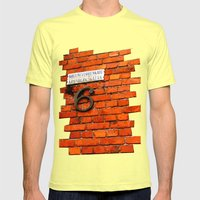 Beautiful Finnish Streets Mens Fitted Tee Lemon SMALL