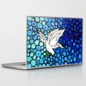 Peaceful Journey - Vibrant white dove by Labor Of Love artist Sharon Cummings. Laptop & iPad Skin