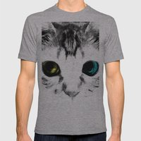 CAT'S EYES Mens Fitted Tee Athletic Grey SMALL