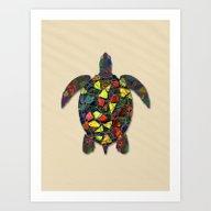 Animal Mosaic - The Turt… Art Print