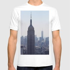 South New York City Mens Fitted Tee SMALL White