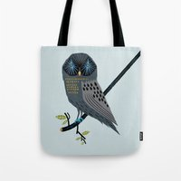 The Perching Owl Tote Bag