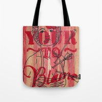 Shot through the heart...... Tote Bag