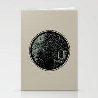 Miniature Circle Landsca… Stationery Cards