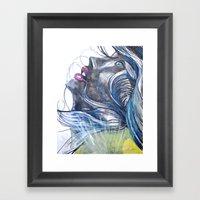 Emo Girl Framed Art Print