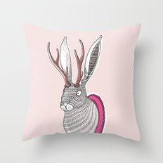 Deer Rabbit Throw Pillow