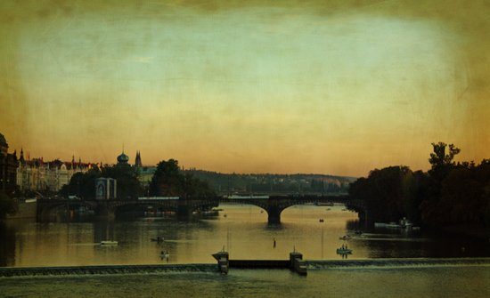 Evening in Prague Art Print