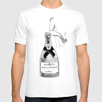Bourgeois Anarchy Mens Fitted Tee White SMALL