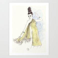 'Alice' Watercolor Fashion Illustration Art Print