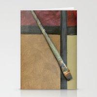 Artist Brush Stationery Cards