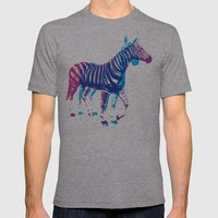Zebras Mens Fitted Tee Athletic Grey SMALL