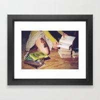 Bookish 04 Framed Art Print