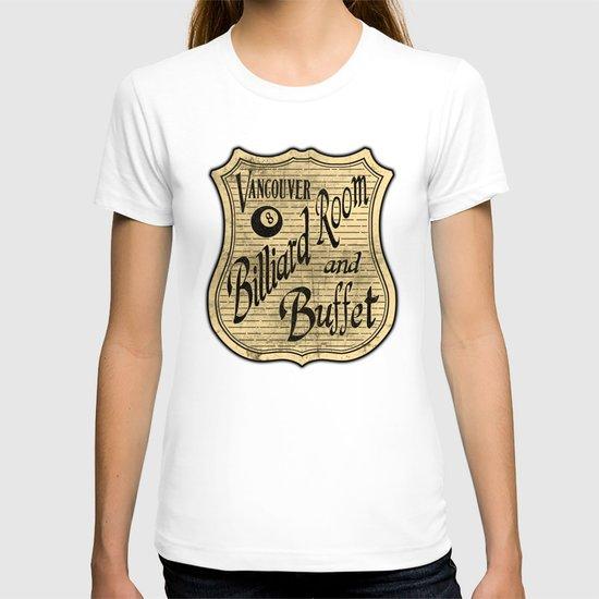 Vintage Vancouver Billiard Sign T-shirt