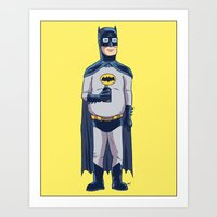 BatHank Art Print