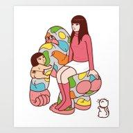 Art Print featuring GG by Kimiaki Yaegashi