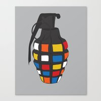 Rubik's Grenade Canvas Print