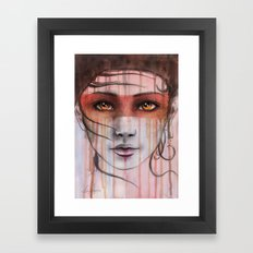 Amber Eyes Framed Art Print