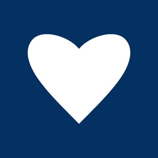 Navy Blue Heart Art Print