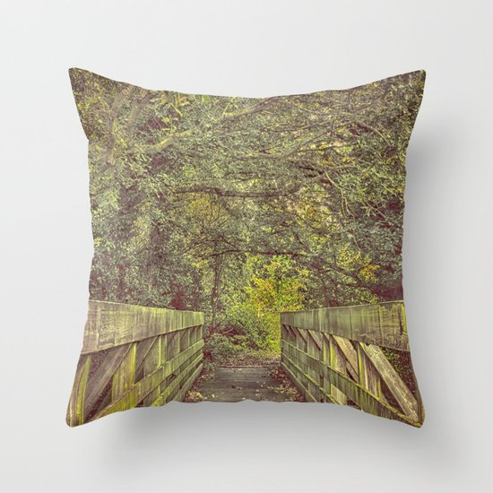 Over and On We Walk Throw Pillow