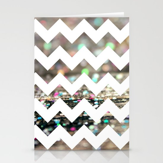 Afterparty Chevron Stationery Card