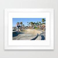 Venice Skate Park Framed Art Print