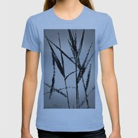 Water Reed Digital Art 3… Womens Fitted Tee Athletic Blue SMALL