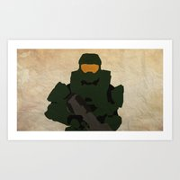 Master Chief - Man Or Ma… Art Print