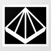 OMD Symbol Reversed Art Print