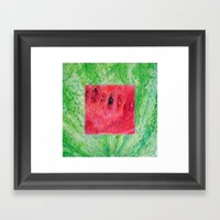 Fresh: Watermelon Framed Art Print