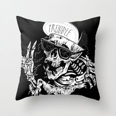 TROUBLE RIPPER / TROUBLE FLY Throw Pillow