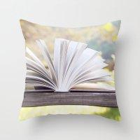 An Open Book Throw Pillow
