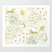 Big Blooms Art Print