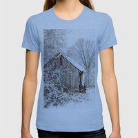 The Wooden Shed Womens Fitted Tee Athletic Blue SMALL