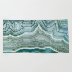 Agate Crystal Blue Beach Towel