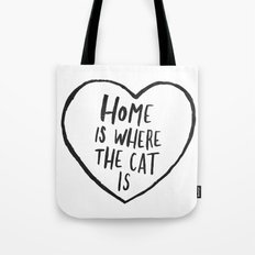 Home Is Where The Cat Is Tote Bag