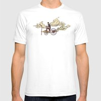 Steam FLY Mens Fitted Tee White SMALL