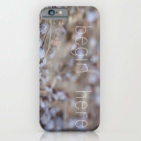 begin here. iPhone & iPod Case