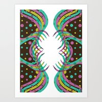 Abstract Spring Bloom Art Print