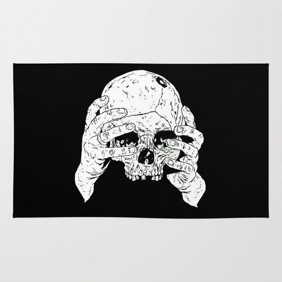 Skull In Hands Area & Throw Rug