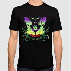 Maleficent Mens Fitted Tee SMALL Black