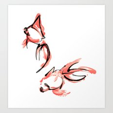 2 Goldfish Art Print