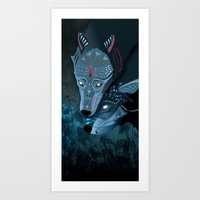 I Am Neither Walker Nor … Art Print