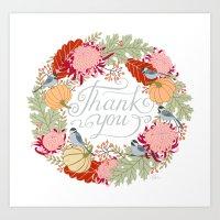 Thanksgiving Thank You C… Art Print