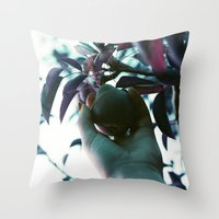 Backyard Pear Throw Pillow