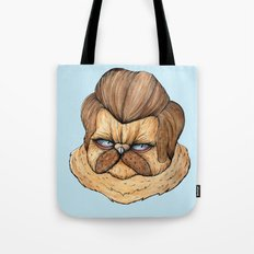 Ron Swanson Cat Tote Bag