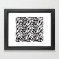 geometric vintage black/white Framed Art Print
